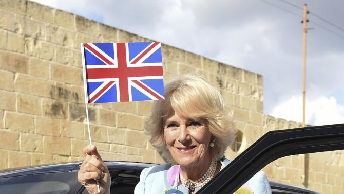 Britain's Camilla, the Duchess of Cornwall, visits St Thomas More College Primary School in Zejtun