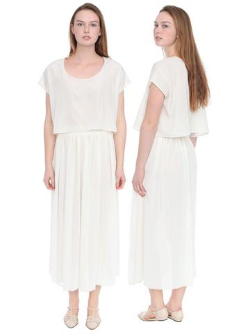 Chiffon double-layered full-length skirt, $58, at American Apparel