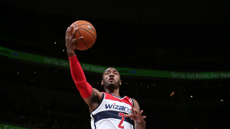 Wall, Ariza lead Wizards over Hawks, 108-101