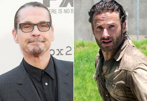 Kurt Sutter, Andrew Lincoln | Photo Credits: Gregg DeGuire/WireImage; Gene Page/AMC