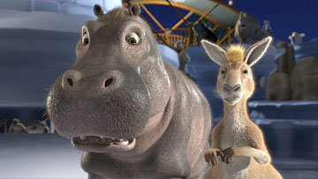 Eze the Hippo and Duke the Kangaroo in Walt Disney Pictures' The Wild