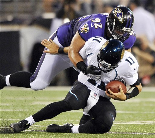 Flacco leads Ravens over Jaguars 48-17