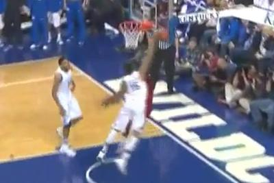 Willie Cauley-Stein blocked this dunk and the dunker and the very idea of dunking into oblivion, nothing exists anymore