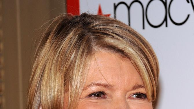 FILE - Television personality Martha Stewart attends Macy's 150th anniversary celebration at Gotham Hall on in this Oct. 28, 2008 file photo taken in New York. Stewart, 71, is scheduled to take the stand in New York State Supreme Court Tuesday March 5, 2013. She is at the center of a bitter legal battle between two of the nation's largest retailers _ Macy's Inc. and J.C. Penney Co. (AP Photo/Evan Agostini, File)