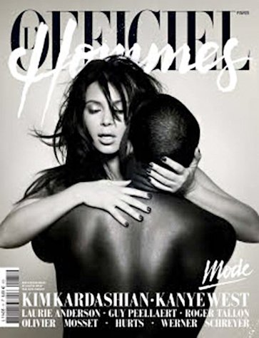 Kim Kardashian Straddles Kanye West in Naked, Sex-Filled Magazine Cover