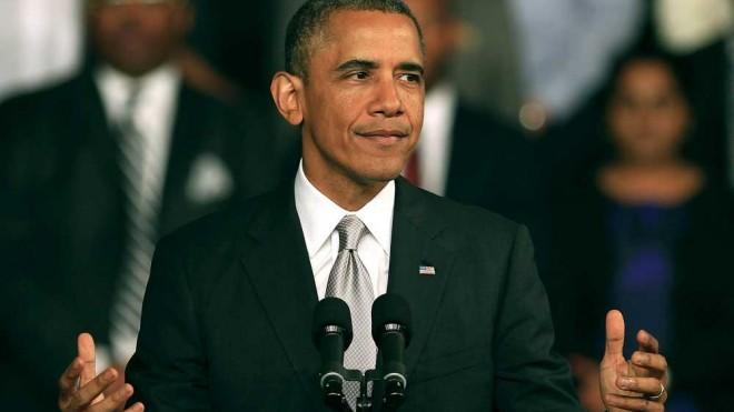 President Barack Obama delivers a speech at the University of Cape Town on June 30 in South Africa.