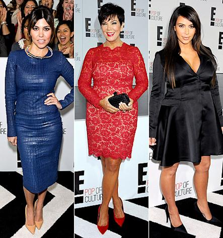 Kim, Kourtney Kardashian Stun on Red Carpet at E! Upfronts