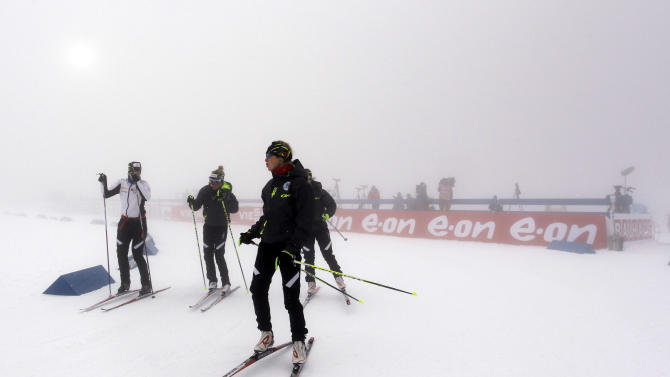 Fourcade leads France to biathlon relay victory