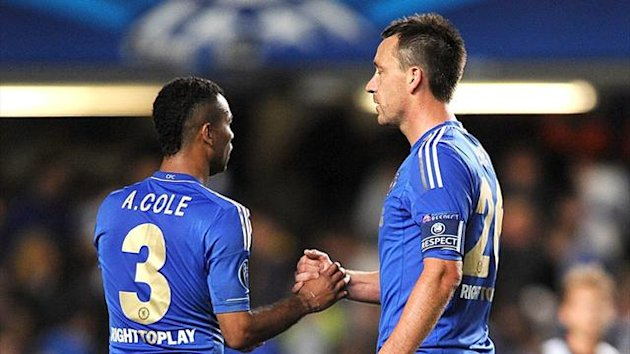 Chelsea's Ashley Cole and John Terry, September 2012