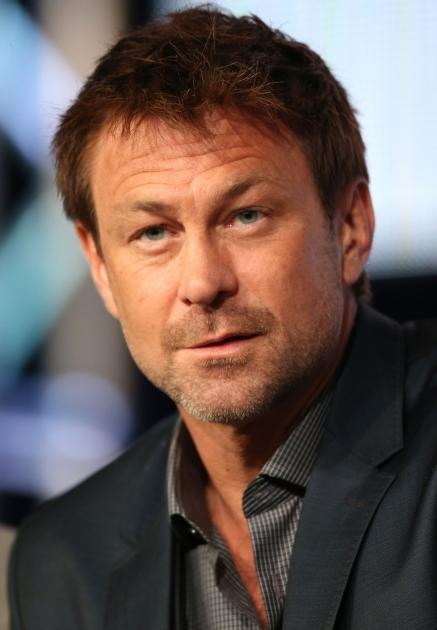 Grant Bowler speaks onstage at the 'Defiance' panel discussion during the Syfy portion of the 2013 Winter TCA Tour- Day 4 at the Langham Hotel on January 7, 2013 in Pasadena, Calif  -- Getty Images