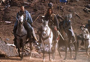 Jeremy Irons and Orlando Bloom in 20th Century Fox's Kingdom of Heaven