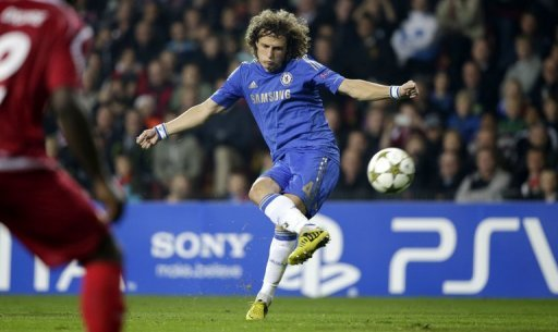 David Luiz marca gol em partida contra o Chelsea