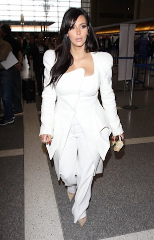 Kim Kardashian white layers