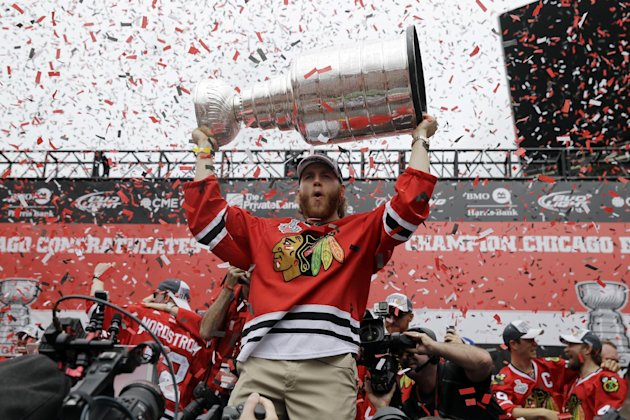 Patrick Kane's sublime skill set and willingness to pay any price to win has been a major factor in the Blackhawks' Stanley Cup success. (AP)
