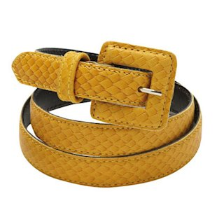 Cyrillus Women&#x002019;s Belt with Metal Buckle La Redoute: Fashion Trend: Mustard 