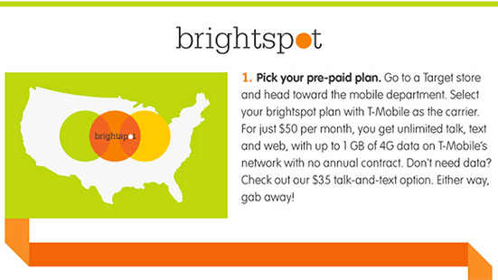 Target announces Brightspot, a prepaid mobile service for arrival on October 6th