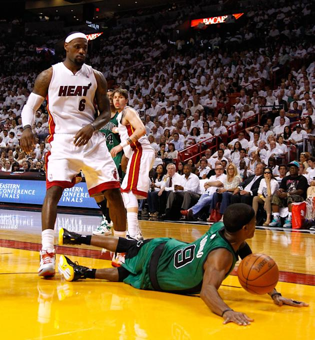 Rajon Rondo #9 Of The Boston Celtics Crashes Getty Images