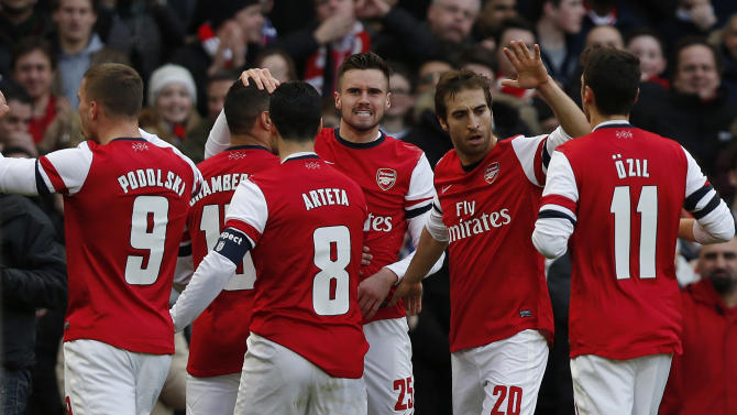 Arsenal advances to FA Cup quarterfinals