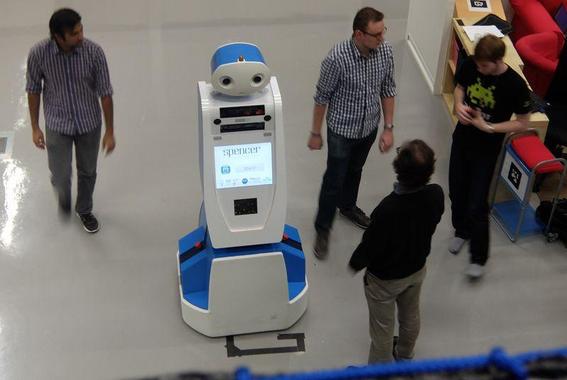 Spencer the robot will guide lost passengers through Amsterdam's Schiphol airport next week