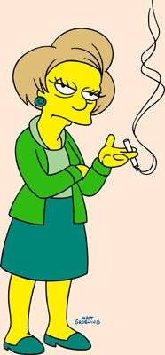 Edna Krabappel (voiced by Marica Wallace) Fox's The Simpsons