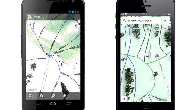 Google Adds 38 Ski Slopes to Google Maps App