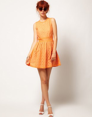 Skater dresses are a look for the flirty gals.