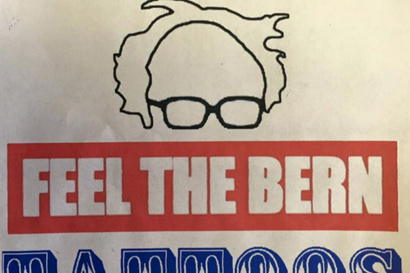 Here's the free Bernie Sanders tattoo people are lining up for in Vermont