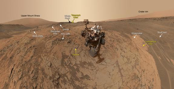 Mars Rover Curiosity Snaps Amazing Selfie at Latest Drilling Site (Photo)