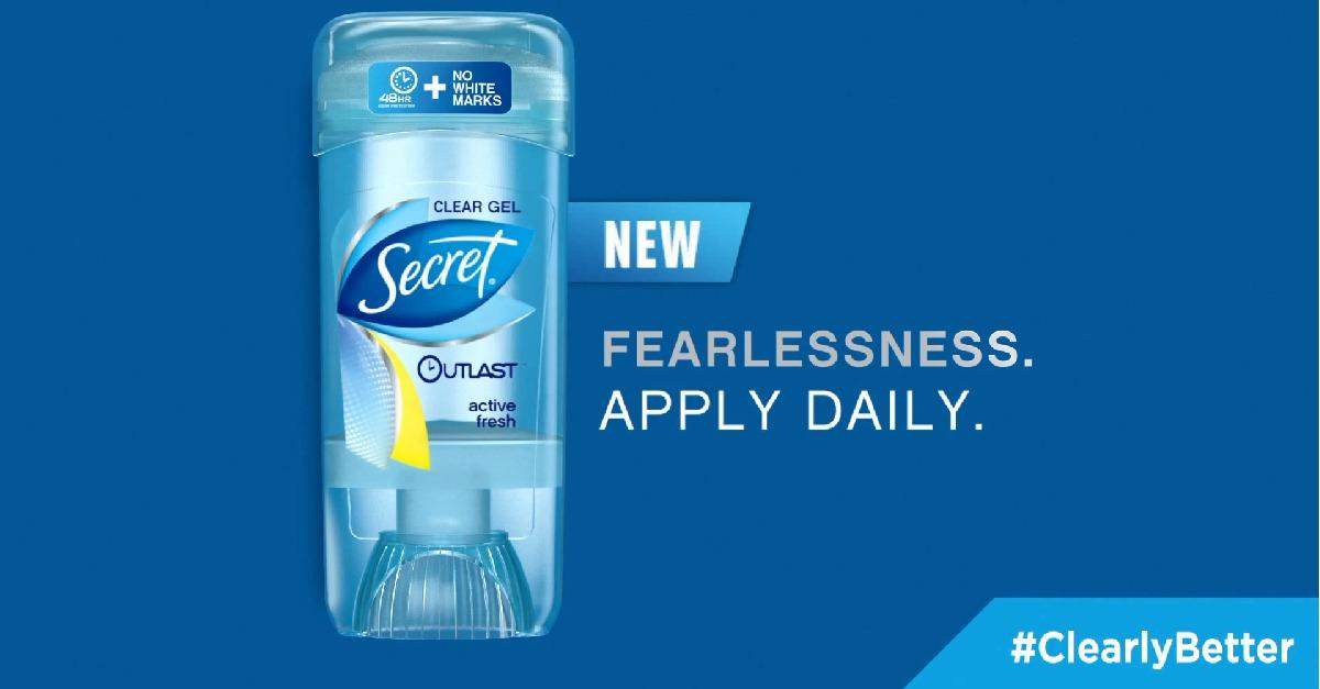 Switch To Secret® For #ClearlyBetter Results Now!