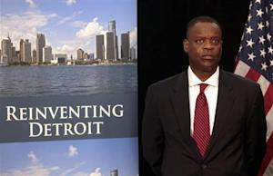 Detroit Emergency Manager Orr waits to address the media during a news conference about filing bankruptcy for the city of Detroit in Detroit