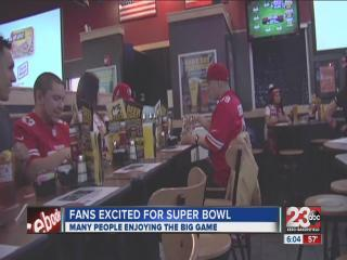 Fans celebrate the Super Bowl in Kern County