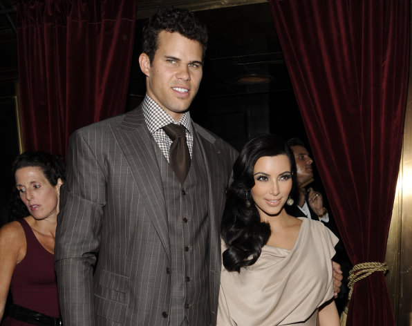 FILE - This Aug. 31, 2011 file photo shows Kim Kardashian and Kris Humphries attending a party thrown in their honor at Capitale in New York. Humphries&#39; lawyer asked to be removed from the case on Thursday, Feb. 14, 2013, one day before a hearing is scheduled to determine when a trial should be held to end the former couple&#39;s marriage. (AP Photo/Evan Agostini, file)