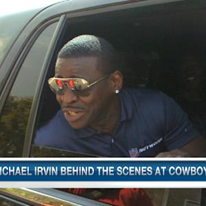 Michael Irvin behind the scenes at Dallas Cowboys training camp