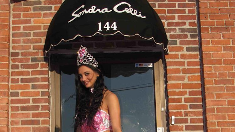"Pricilla shows off outside Sondra Celli's on ""My Big Fat American Gypsy Wedding."""