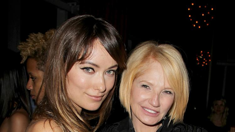 "In this Nov. 14, 2011 photo, actresses Olivia Wilde, left, and Ellen Barkin attend the after party for a special screening of the film ""Another Happy Day,"" in New York.  (AP Photo/Starpix, Amanda Schwab)"