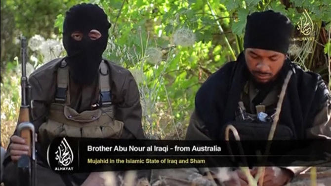 An Islamist fighter, identified as Abu Nour al-Iraqi from Australia
