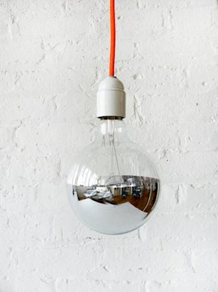 Neon Orange Cord Hanging Pendant Lamp