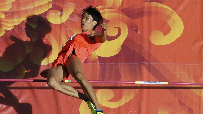 Tobe of Japan competes in men's high jump qualification at 15th IAAF World Championships in Beijing