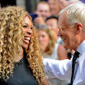 David Letterman and Serena Williams Hit Tennis Balls on 53rd Street