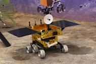 A model of China's Chang'e 3 moon rover Yutu launching in December 2013.