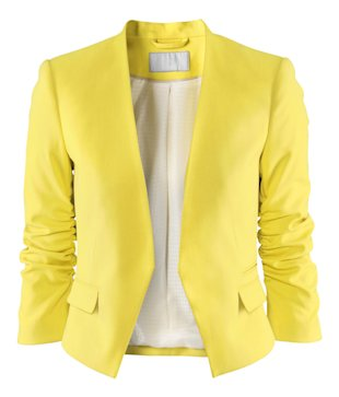 HM bright yellow blazer