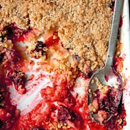 Nothing beats the humble crumble. This classic British pud of sweet juicy fruit and buttery crumble topping is deliciously comforting and can be easily adapted depending on the season. Whether it's a traditional apple crumble, berry crumble, or one with an exotic twist, tuck into our pick of the best crumble recipesand serve with a good scoop of ice cream or dollop of custard