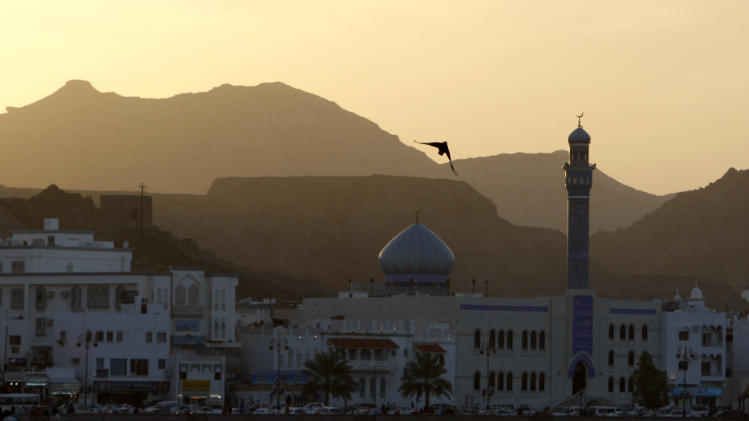 FILE - This Friday, Feb. 12, 2010 file picture shows the seafront in Muscat, Oman. The highest religious authority in the Persian Gulf kingdom has pushed back against the government's efforts to boost tourism by calling for an nationwide alcohol ban and strict monitoring of health clubs in this Muslim country. (AP Photo/Christophe Ena)