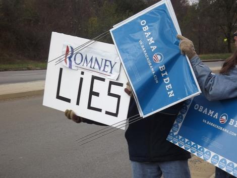 Photos: Obama Supporters Rally Outside Romney Visit in Roanoke, Va.