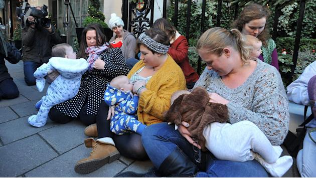 Mums Stage Breastfeeding Protest At Claridge's