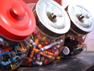Kitchen Canisters for Art Supplies