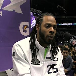 Seattle Seahawks cornerback Richard Sherman debates reporter