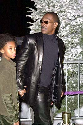 Eddie Murphy with his daughter at the Universal Amphitheatre premiere of Universal's Dr. Seuss' How The Grinch Stole Christmas