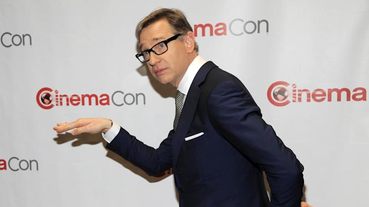 "Paul Feig, director of the upcoming film ""The Heat,"" poses for photographers backstage before 20th Century Fox's presentation at CinemaCon 2013 at Caesars Palace on Thursday, April 18, 2013 in Las Vegas. (Photo by Chris Pizzello/Invision/AP)"