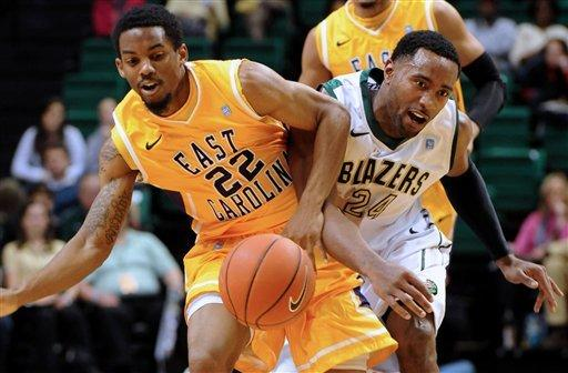 East Carolina beats UAB 91-85; 6 in double figures